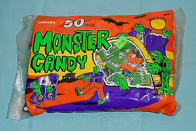 vintage Halloween WORLD'S MONSTER CANDY new/sealed