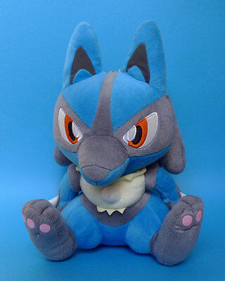 POKEMON - LUCARIO Peluche DX 34 cm Banpresto 2005 JAPON plush RARE