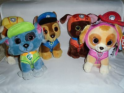 Ty Beanie Boos - Paw Patrol Characters - Choose Character