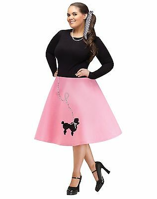 50s 50's Poodle Skirt Grease Adult Costume Accessory, Plus Size 16W-22W