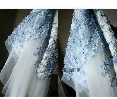 3D FLORAL MESH Organza Fabric Wedding Sheer Lace Tulle Dresses ...