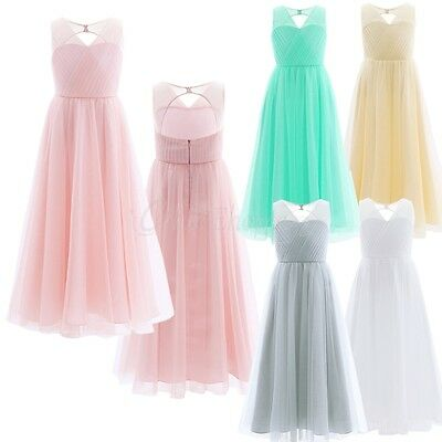 Girl Communion Party Prom Flower Girl Princess Dress Wedding Bridesmaid Dress