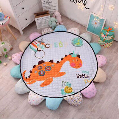 Sunflower Cartoon Portable Soft  Round Baby Kids Play Mat Rug Crawling Blanket