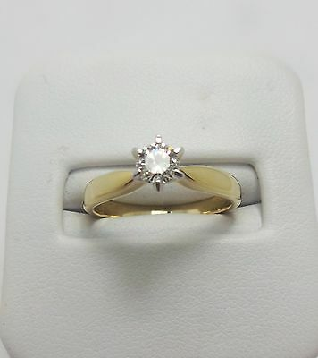 9ct YELLOW GOLD SOLITAIRE DIAMOND RING VALUED @$ 1566 COMES WITH VALUATION