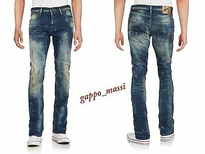 1df41ab257cf7 NWT PRPS Goods Co JAPAN DEMON Embroidered Slim Straight Men Jeans 36 x 32   425