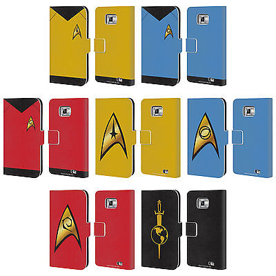 Star Trek Uniforms And Badges Tos Leather Book Wallet Case For Samsung Phones 2