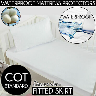 COT STANDARD Cotton TERRY TOWELLING Waterproof Mattress Protector Terrycloth NEW