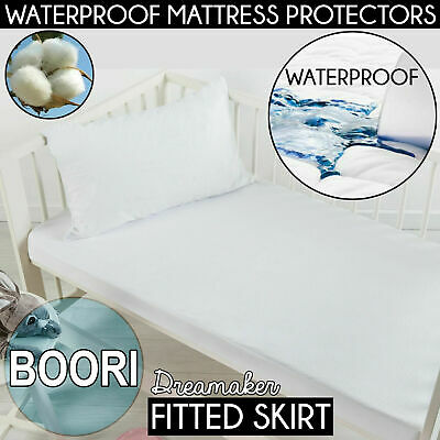 COT BOORI Cotton TERRY TOWELLING Waterproof Mattress Protector CotBed Crib Towel