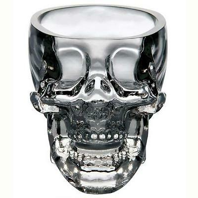 2x New Crystal Skull Head Vodka Whiskey Shot Glass Cup Drinking Ware Home Bar TQ