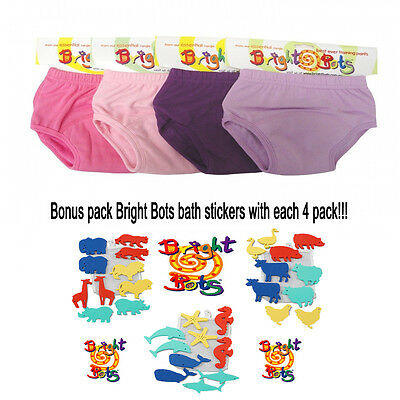 Bright bots Washable potty training toilet training pants 4 pack GIRL