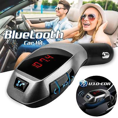 Bluetooth Car Kit FM Transmitter MP3 USB SD LCD Charger Wireless X5 Handsfree UK