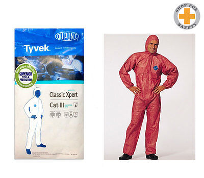 DuPont Tyvek Coverall Classic Xpert * Chemicals Asbestos * Orange - 10 units *