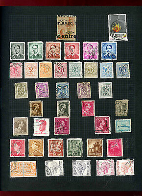 Belgium Album Page Of Stamps #V5530