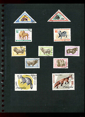 Mongolia Album Page Of Stamps #V5508