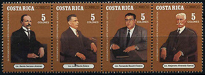 Costa Rica 1992 SG#1528-1531 Presidents Supreme Court Of Justice MNH Set #D53040