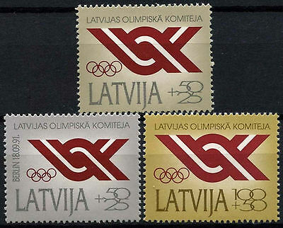 Latvia 1992 SG#342-4 Olympic Committee MNH Set #D52911