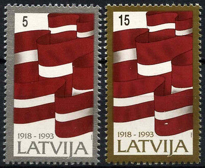 Latvia SG#381-2, 75th Anniv Of Republic MNH Set #D52910