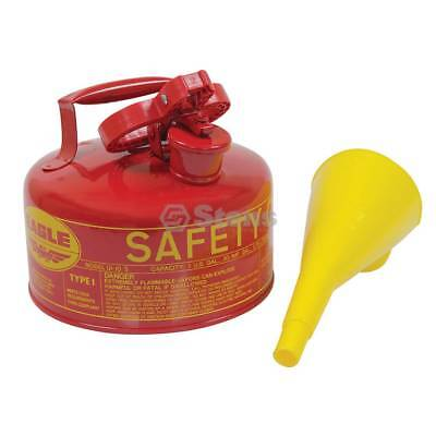 New Stens Metal Safety Fuel Can 765-180 for Eagle 1 Gallon With Funnel