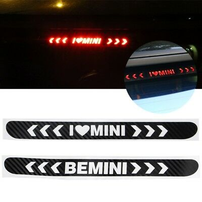 Car Carbon Fiber High Mount Stop Brake Light Decorative Sticker For Mini Cooper