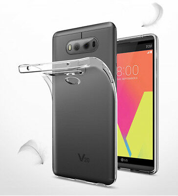 For LG V20 G4 stylus Clear Shockproof Soft Gel Phone Case Cover + Tempered Glass