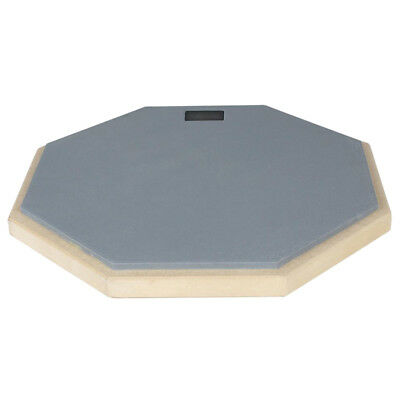 Dumb Drum Pad Exercise Mat Blow Plate Drummer Rubber Double Side Soft Grey