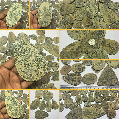 Wholesale Price Lot Natural German Psilomelane Dendrite Loose Cabochon Gemstone