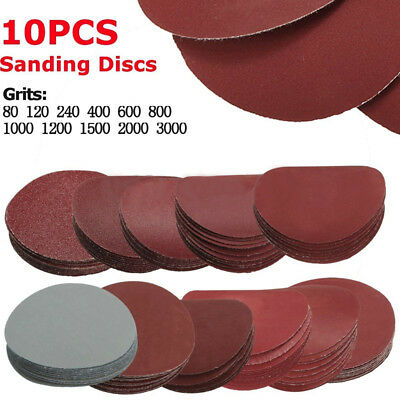 3in 10* 75mm Nonporous Round Sanding Discs Polishing Pad Sandpaper Mix Grit Set