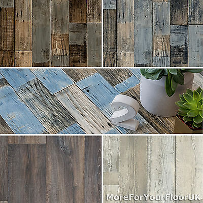 Vintage Wood Style Vinyl Flooring Rustic Plank 2.8mm Kitchen Bathroom Cheap