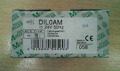 New Klockner Moeller DIL0AM Contactor 11kw,380-440v,coil voltage 24v