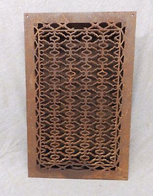 Antique Cast Iron Heat Grate Vent Register Old Design Decorative 20x12 363-17P