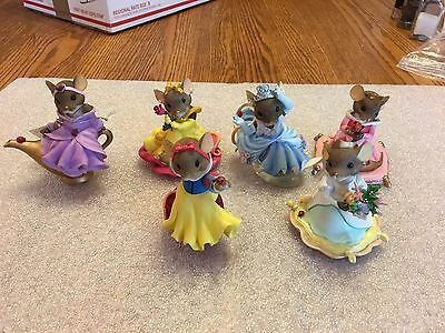 "CHARMING TAILS ""DISNEY PRINCESS COLLECTION"" 5 Mice Plus One"