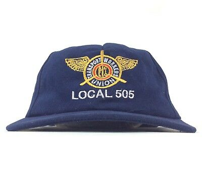 Vintage Transport Workers Union TWU Local 505 Baseball Cap Hat Snapback USA Made