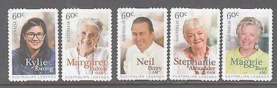 Australia 2014 Legends of Cooking used set 5 booklet stamps