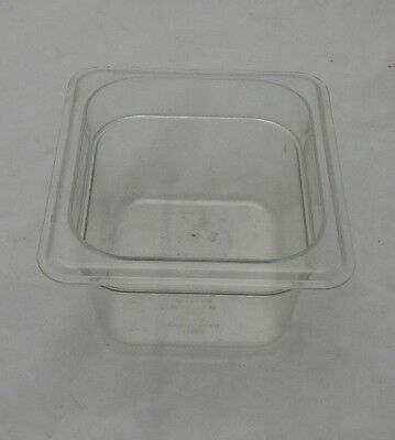 "CAMBRO 1/6 GN FOOD PAN, 4"" DEEP, TRANSLUCENT EN 631-1, 1 pan"