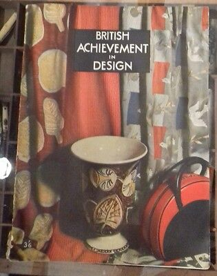 British Achievement In Design Edited By Noel Carrington & Muriel Harris 1946