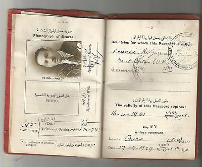 Egypt Kingdom Expire Cpl Document 1929 Consular Revenue Uk Germany Belgium