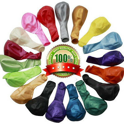 100 X Latex PLAIN BALOONS BALLONS Helium BALLOONS Quality Party Birthday Wedding