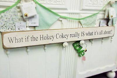 Hokey Cokey Decor Present Gift Wall Art Wooden House Sign Plaque By Austin Sloan