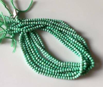5 Strands 5mm Faceted Chrysoprase Round Rondelles Beads 13 Inch Strand GDS538/1