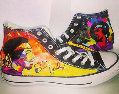 Jimi Hendrix  hand painted converse shoes