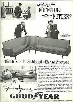 1959 Goodyear in the furniture business vintage print ad magazine advertisement