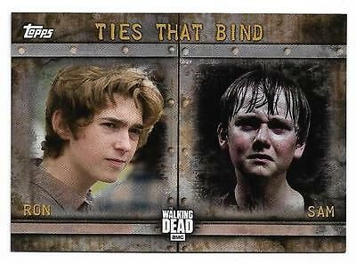 2017 Topps The Walking Dead Season 6 Ties That Bind F-5 Ron Anderson and Sam