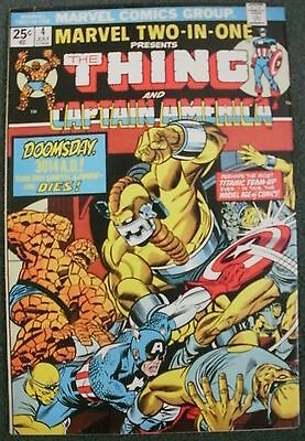 Marvel Two In One # 4 The Thing & Captain America