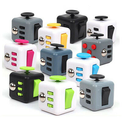 Anxiety Stress Relief Focus Gift Adults Kids Attention Therapy Magic Fidget Cube