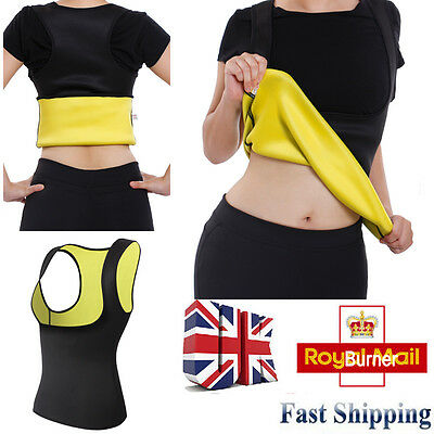 Sauna Hot Sweat Body Shaper For Weight Loss Women Waist Trainer Vest Girdle
