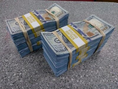 The World's Best Authentic Blue Prop Money $100k + gift (for movies & pranks)