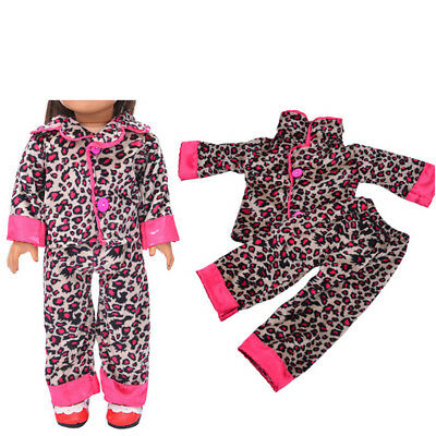 Handmade Leopard Sleepwear Clothes Pants Set For All 18'inch Doll Clothes Gifts.