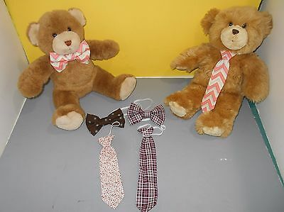 Teddy Bear Clothing Accessory Handmade Bow Tie Bowtie - Neck Tie Set Baseball