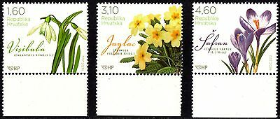 Croatia 2012 Spring Flowers Complete Set of 3 stamps -MNH