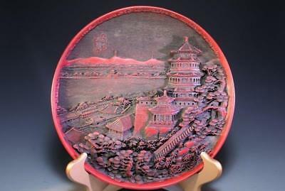 Chinese Lacqured Tray, Finely Carved in High Relief,